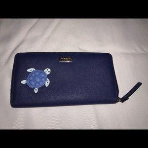 Kate Spade Navy Blue Turtle Wallet
